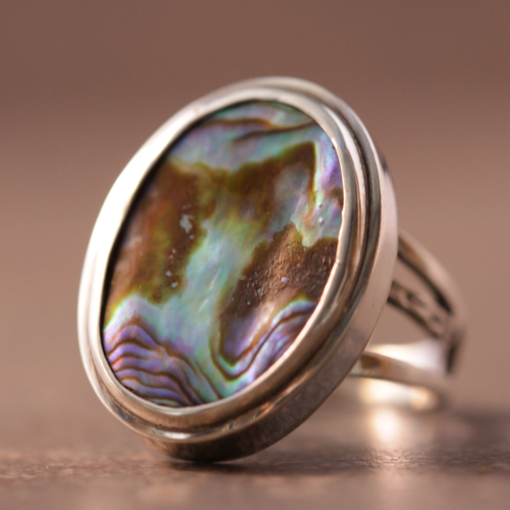 Abalone Mystical Deep Sea Ring