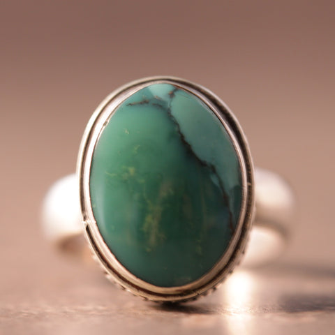Turquoise Loopy Bezel Ring