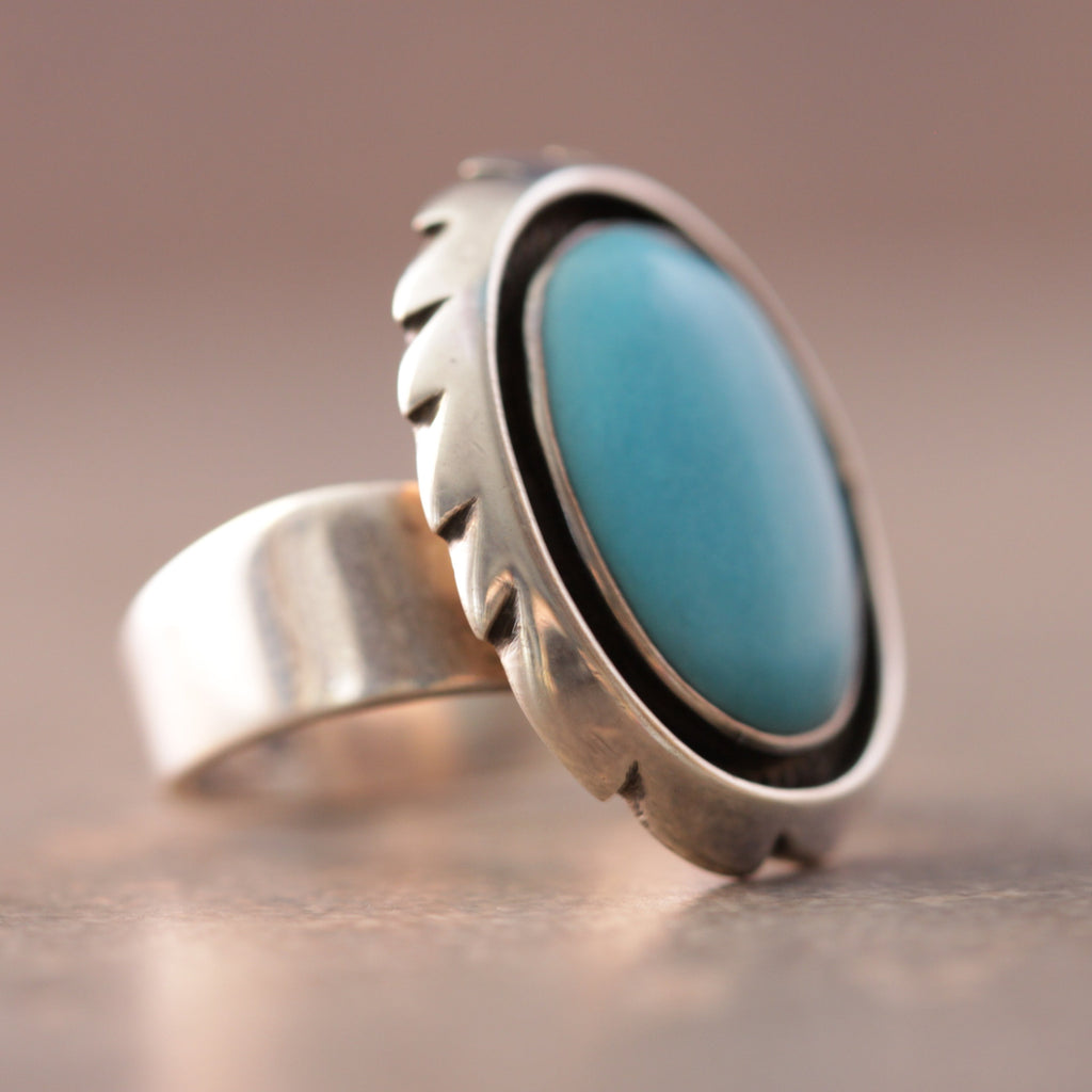 Spinning Wheel Turquoise Ring