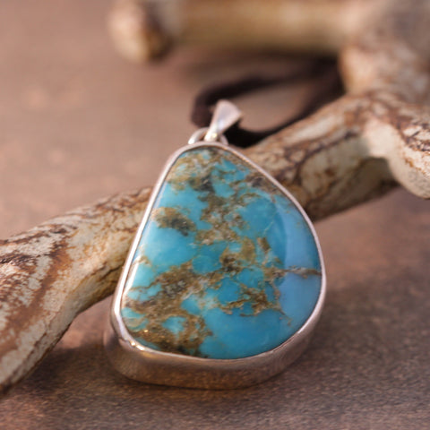 Turquoise Smooth Organic Rock Necklace