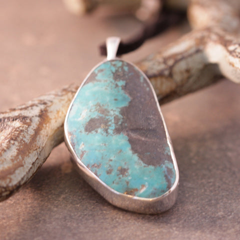Raw Turquoise Rock Necklace