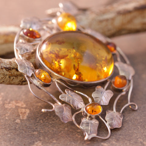 Amber and Ivy Trellis Necklace