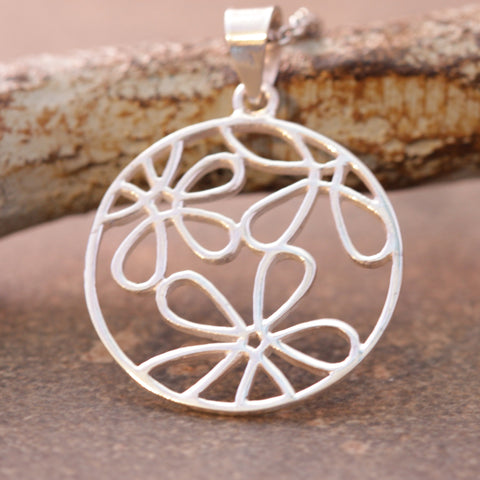 Circle of Daisies Cut-Out Necklace