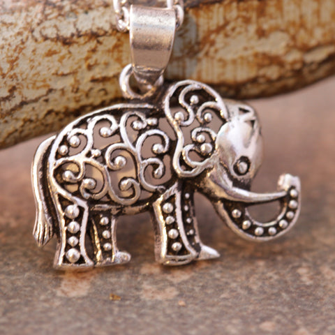 Intricate Elephant Necklace