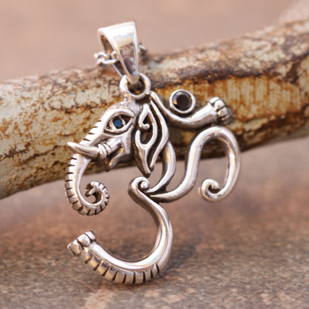 Elephant Om Lucky Necklace