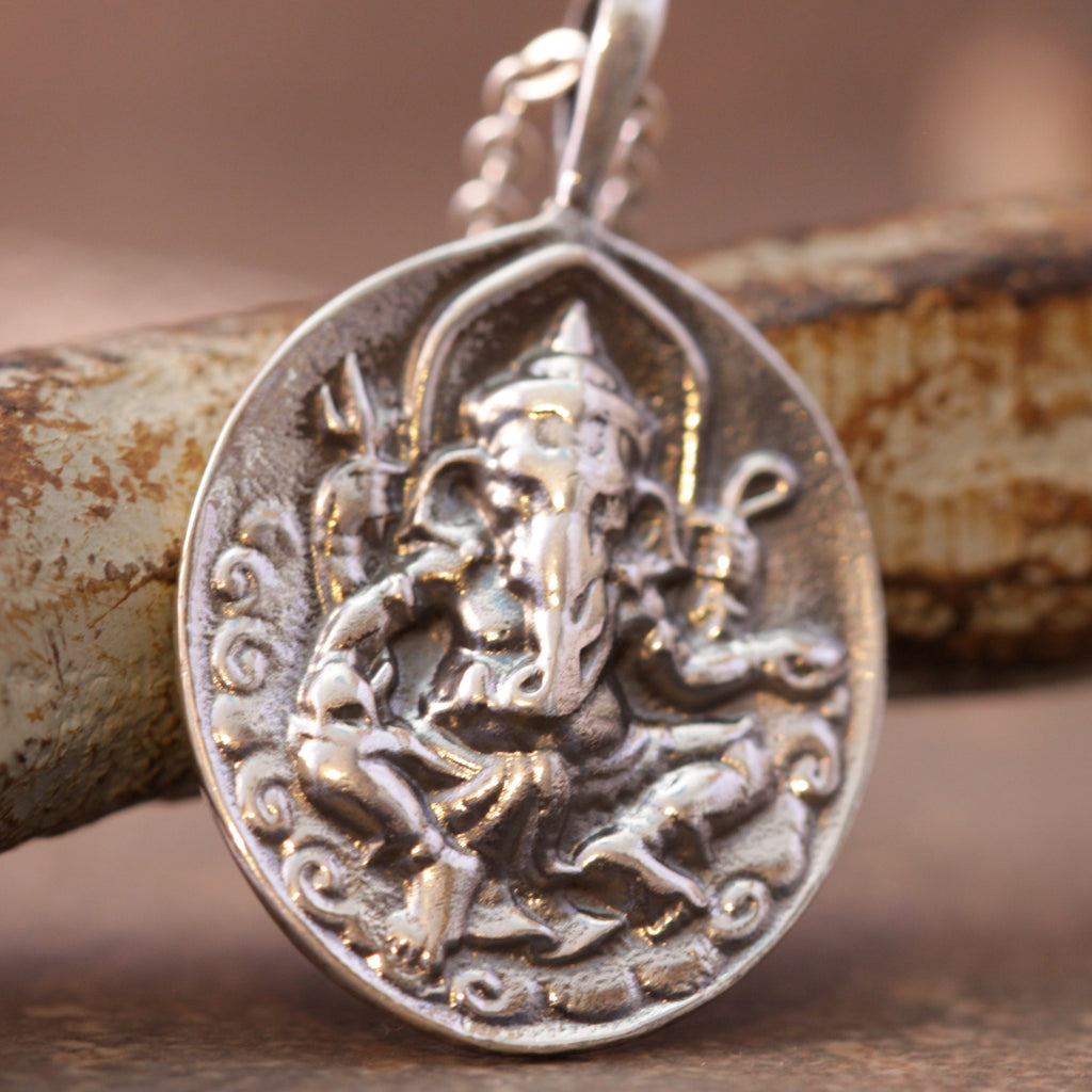 Ganesh Reversible Om Necklace