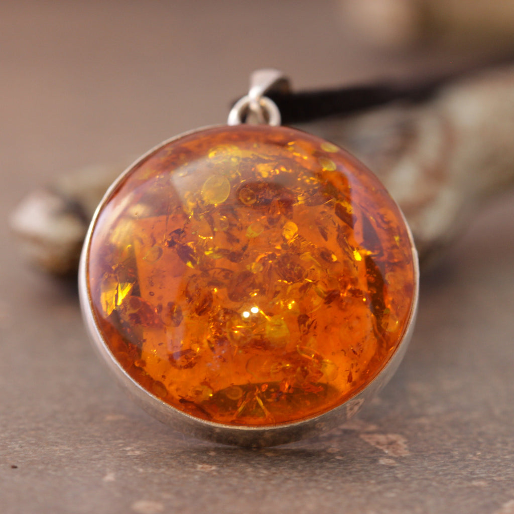 Amber Perfect Circle Necklace