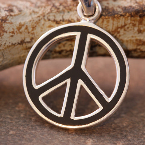 Onyx Inlay Peace Necklace