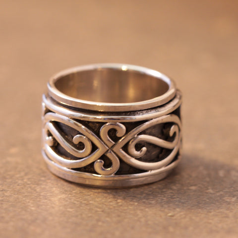 Infinity Wing Spinner Ring
