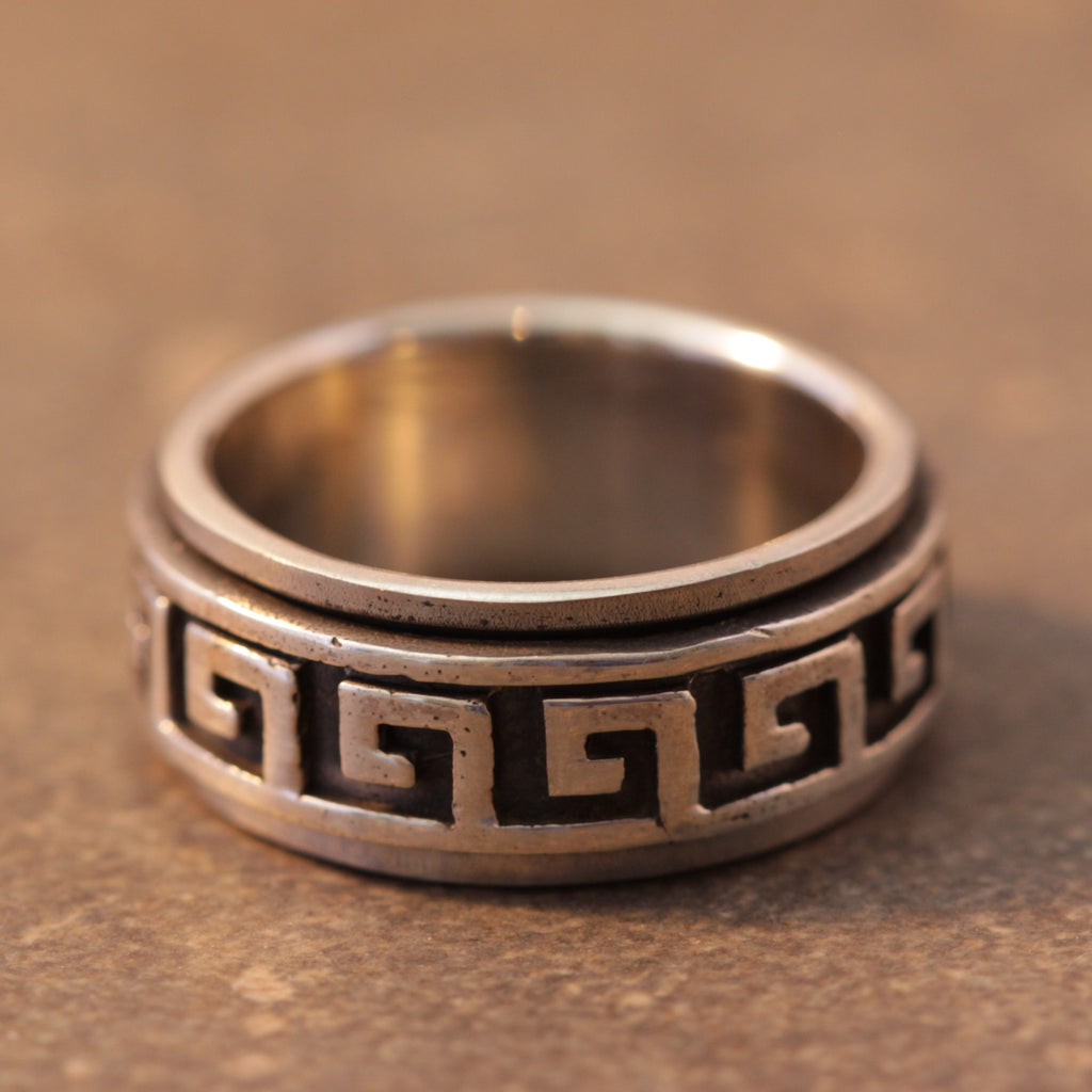 Hieroglyphic Spinner Ring