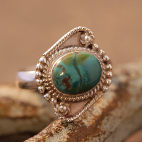 Delightfully Twisted Turquoise Ring