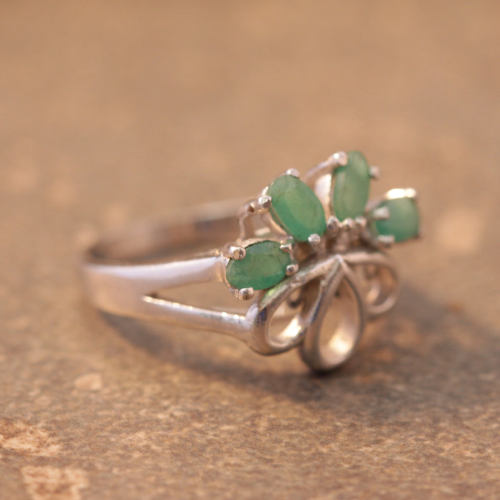 Proper Princess Emerald Ring