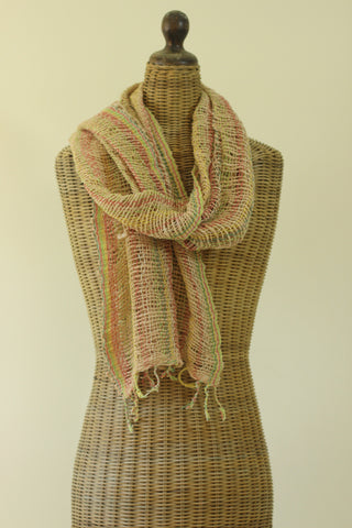 Open Weave Scarf - Sand