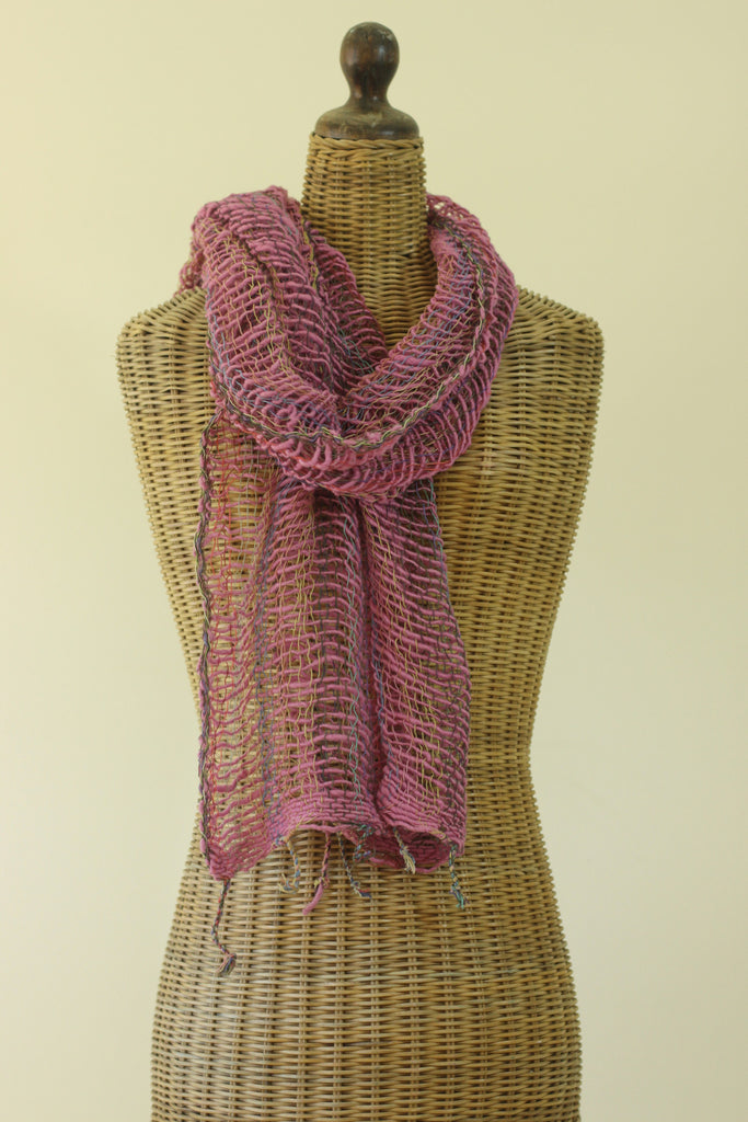 Open Weave Scarf - Cotton Candy