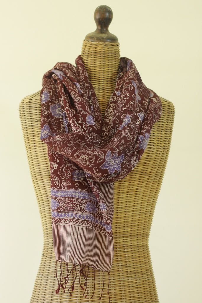 Japanese Maple Silk Scarf
