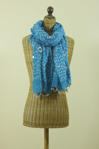 Rajasthan Princess Scarf - Blue