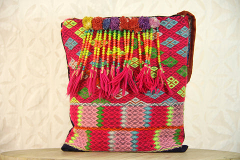 Fiesta Pink Beaded Embroidered Bag