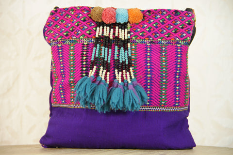 Fiesta Purple Beaded Embroidered Bag