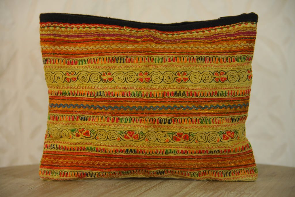 Gypsy Embroidered Makeup Bag - Sand Multi