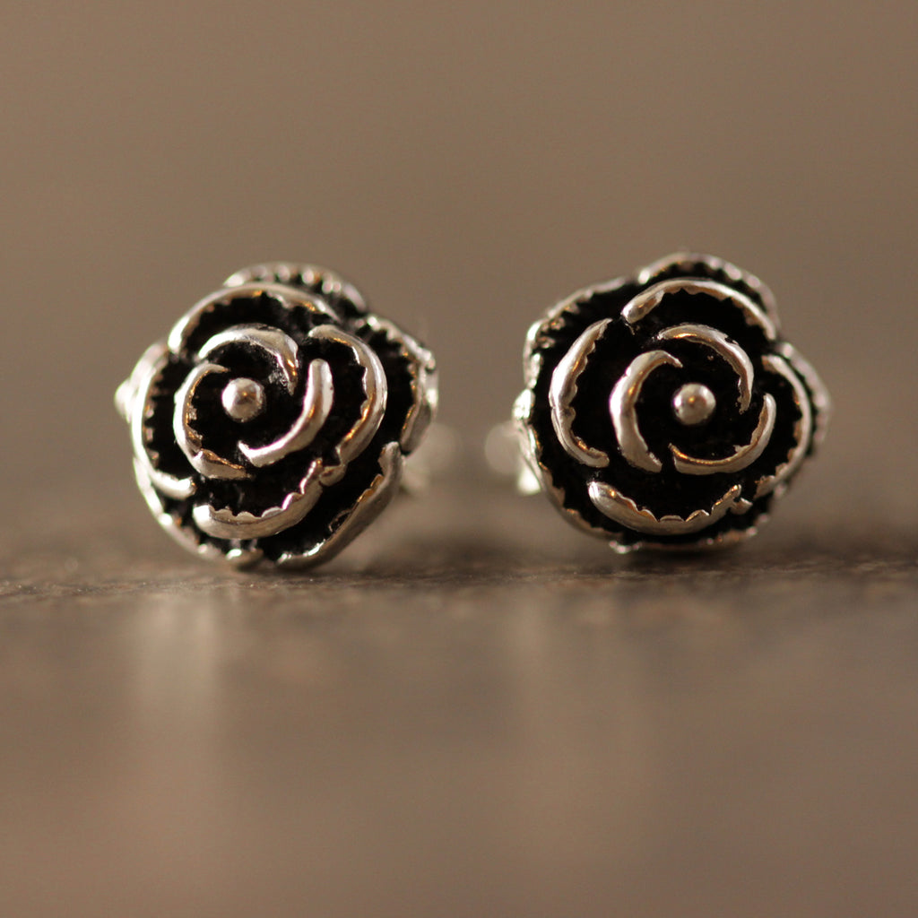 Rosette Stud Earrings