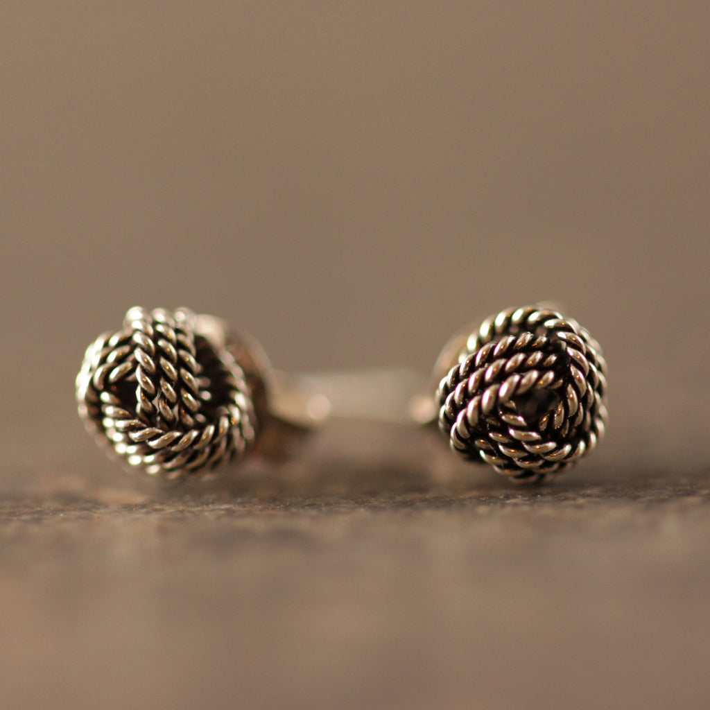 Infinity Knot Stud Earrings