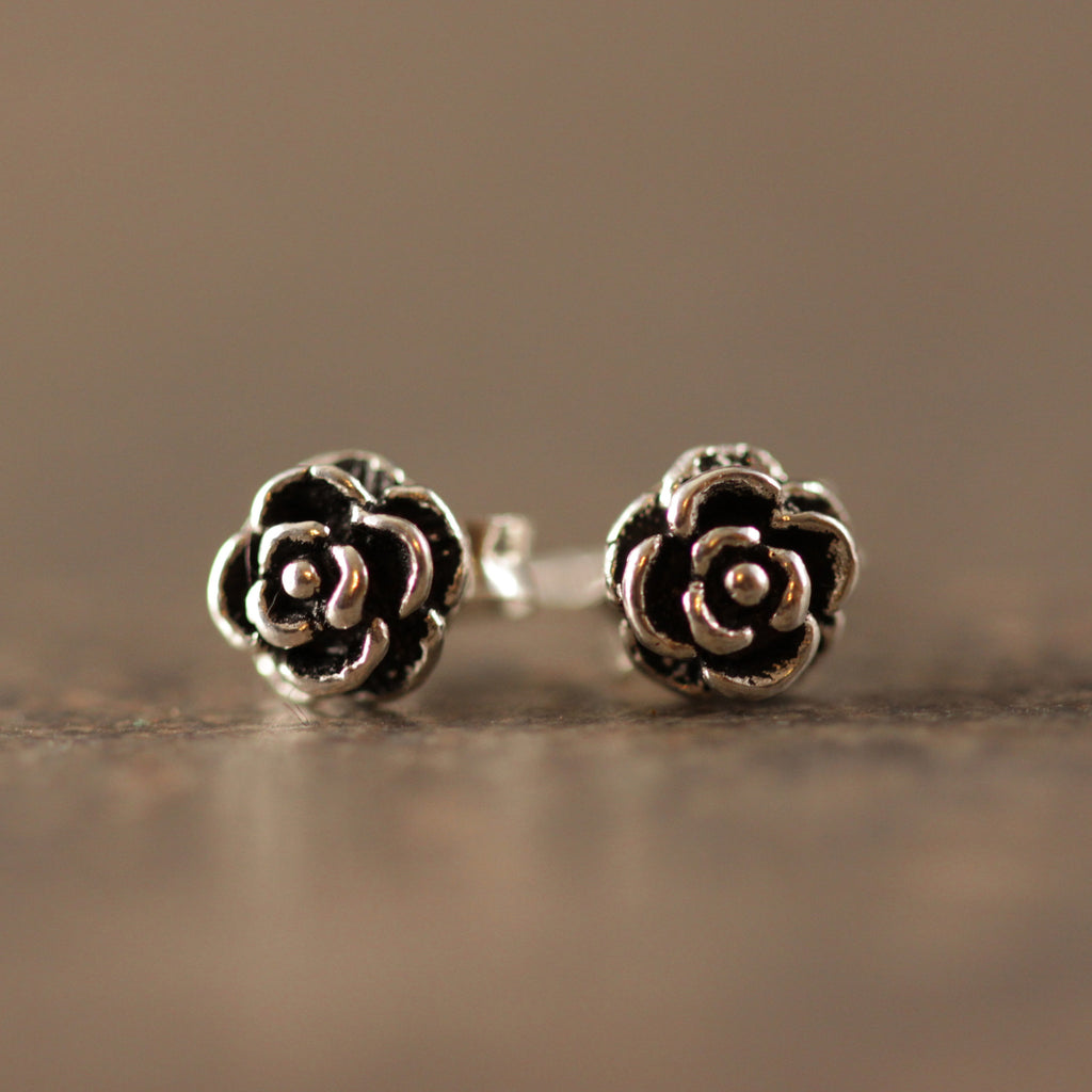 Mini Rosette Stud Earrings