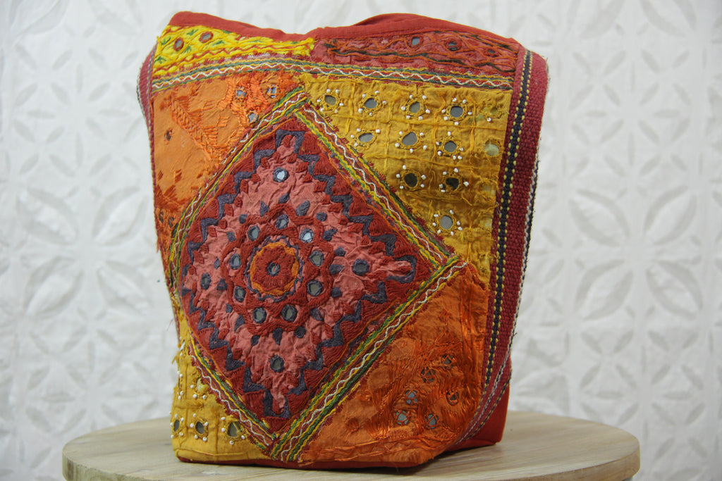 Embroidered Mirror Crossbody Bag