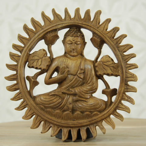 Wooden Buddha Wall Art