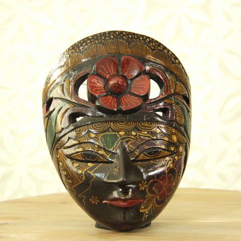 Balinese Painted Mask - Sunset