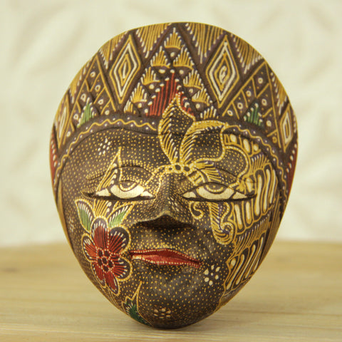 Balinese Painted Mask - Earth