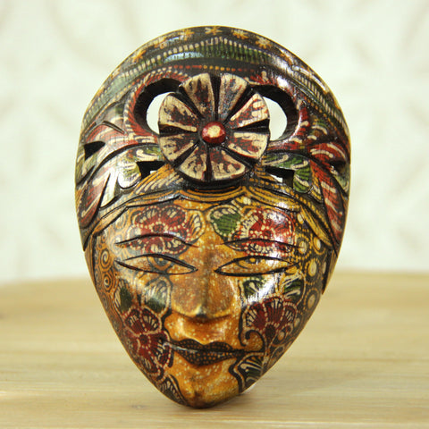 Balinese Painted Mask - Golden