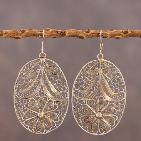 Indian Daisy Web Earrings