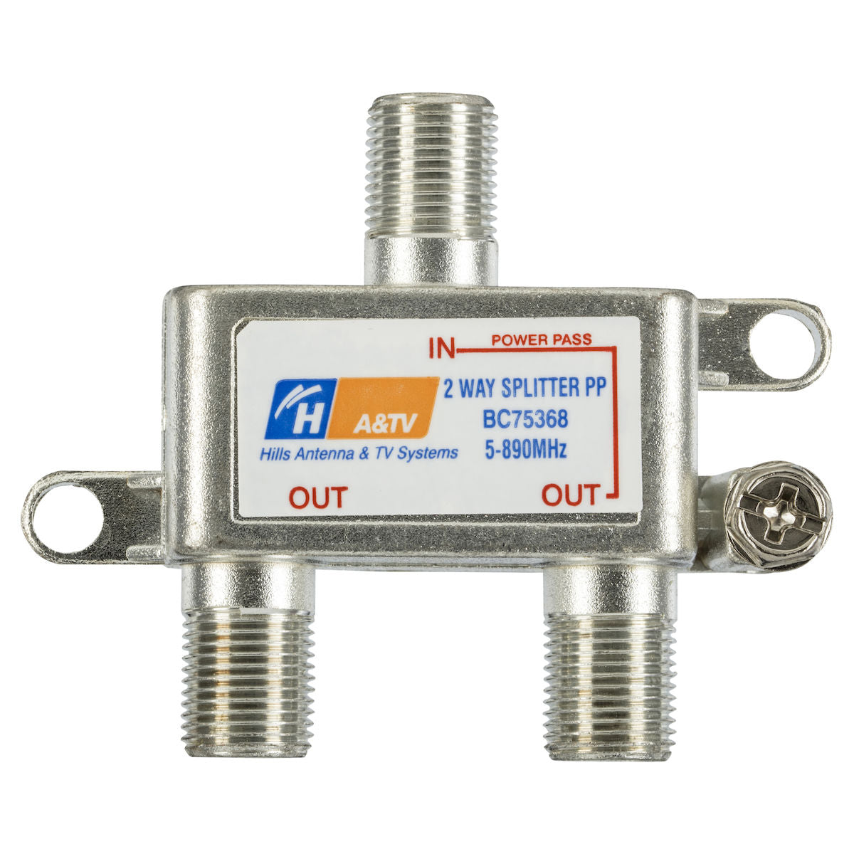 Hills BC75368 2 Way F-Type 5-890MHz Splitter
