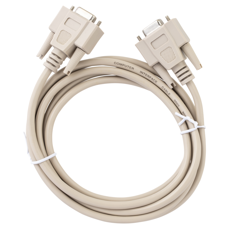 RS232 NULL MODEM 9-PIN CABLE 2m