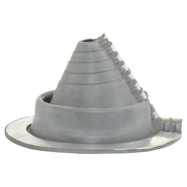 Hills 880099 Dektite EDPM Rubber Cone with Split - Grey