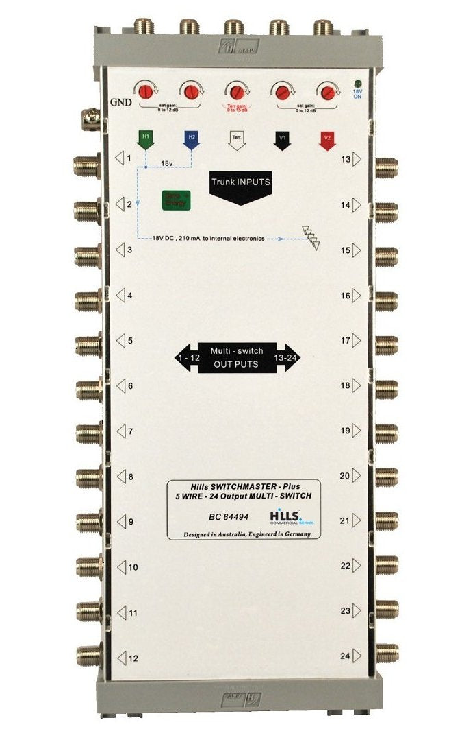 Hills BC84494 5-Wire, 24 Output Multiswitch