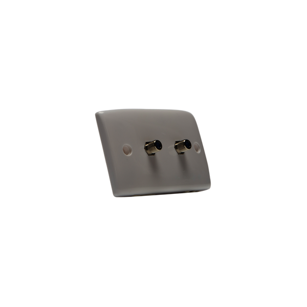 Hills BC74727 Dual F-Type High Return Loss Wall Plate