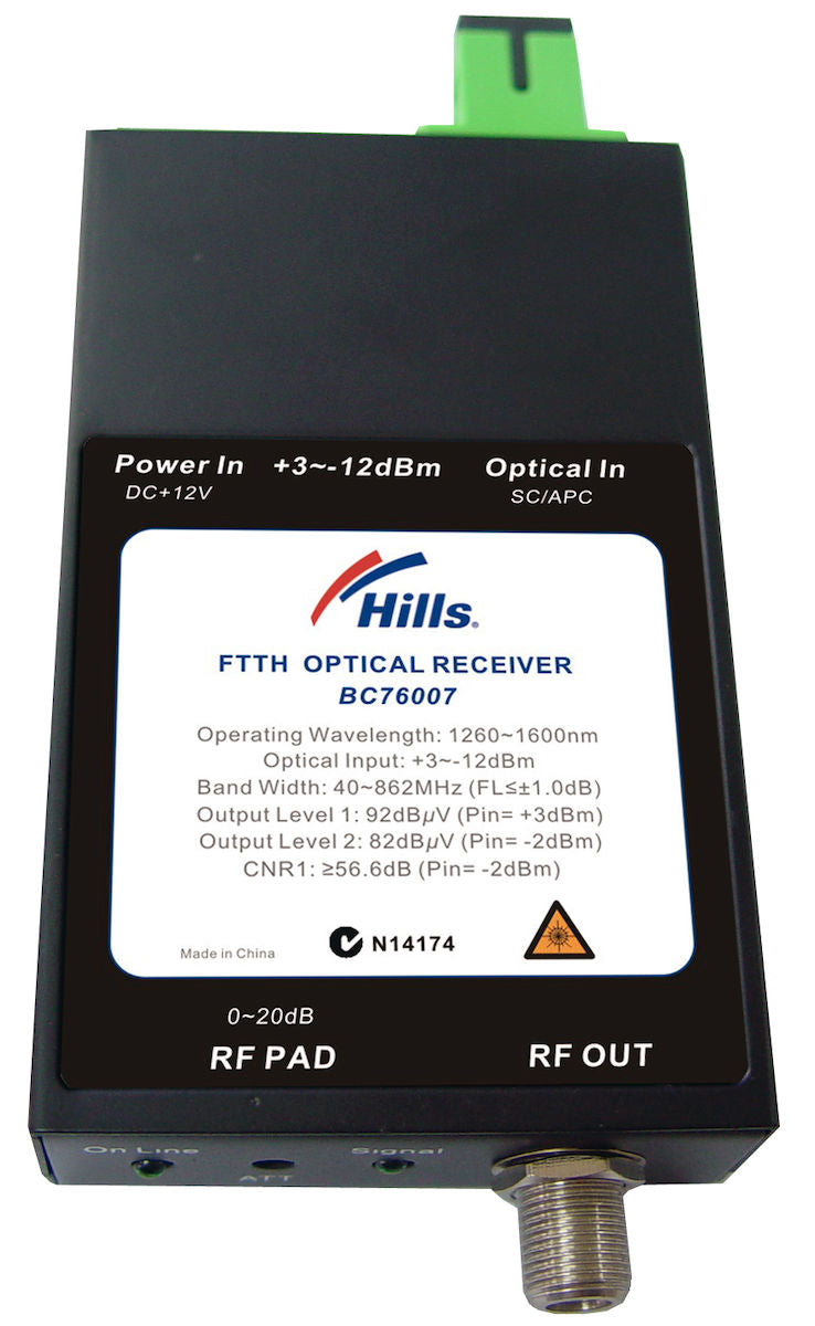 Hills BC76007 1GHz FTTH Optical Receiver