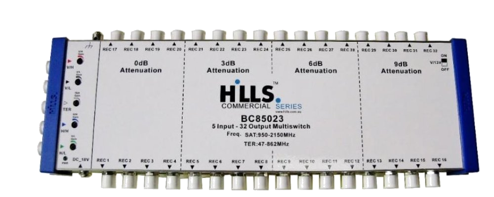Hills BC85023 5-Wire, 32 Output Multiswitch
