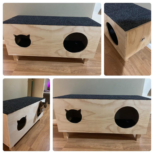 Double Cat Condo - Indoor/Outdoor