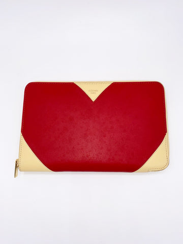 Angel Locsin's CELINE Premium Zipped Around Red Travel Wallet