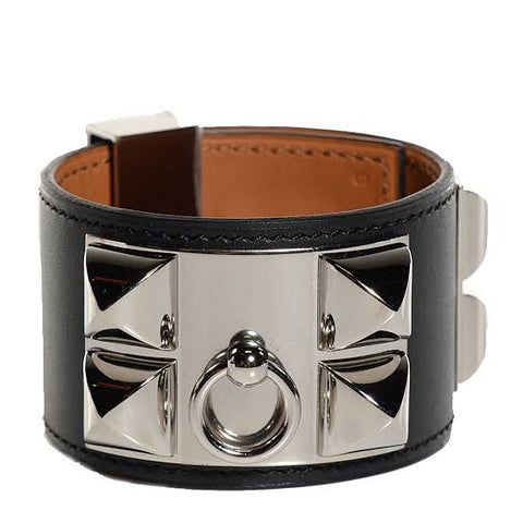Angel Locsin's HERMES Collier de Chien  Black and Silver
