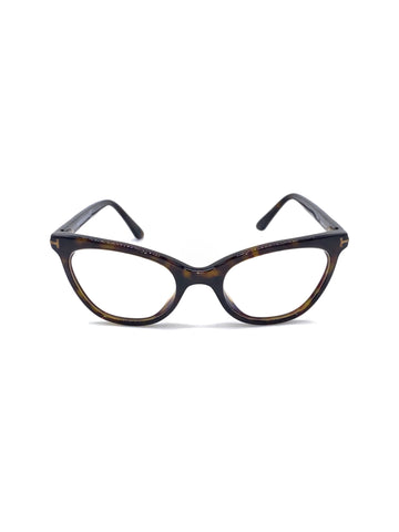 Angel Locsin's Tom Ford Women's Eyeglasses Brown Black Full Rim Optical Frame 55mm