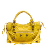 Aivee Aguilar-Teo's BALENCIAGA Yellow Classic City Small Shoulder Bag