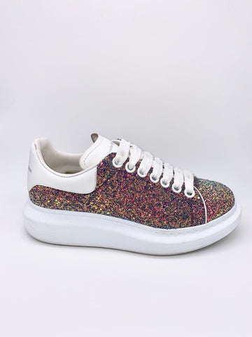 Anne Curtis's Alexander McQueen Multicolor Glitter Platform Sneakers