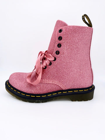 Anne Curtis's Dr. Martens 1460 Pascal Pink Glitter Boots