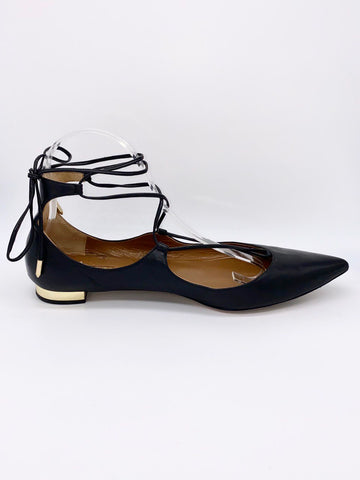 Dimples Romana's Aquazurra Firenze Christy Lace-Up Flats