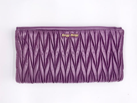 Anne Curtis's Miu Miu Matelassé Purple Shoulder Bag