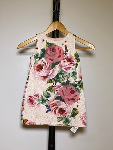 Scarlet Snow Belo's Dolce & Gabbana Kids Rose and butterfly-print dress