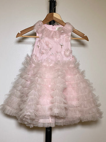 Scarlet Snow Belo's Mischka Aoki Feather Blossom Dress
